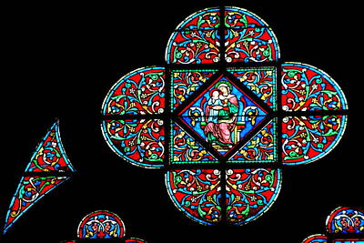Photograph - Notre Dame Window - Meditation by Jacqueline M Lewis