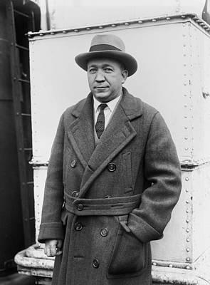 Notre Dame's Legendary Head Coach Knute Rockne On A Ship's Deck -1920s Art Print by Mountain Dreams