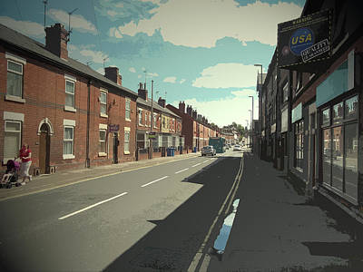 Nottingham Road In Derby, Busy Main Road Situated East Print by Litz Collection