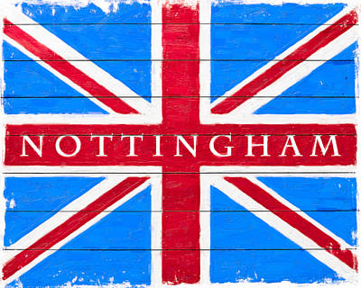 Digital Art - Nottingham Vintage Union Jack Flag by Mark E Tisdale