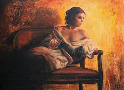 Nudes Painting - Notturno by Escha Van den bogerd