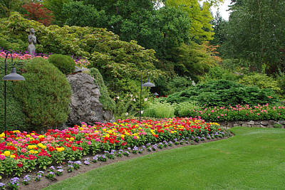 Photograph - Butchart Gardens In Spring by Marilyn Wilson