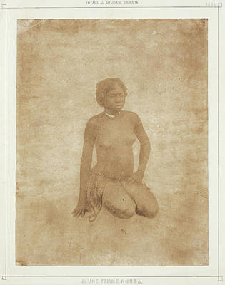 Tr Drawing - Nouba Girl Pierre Trémaux, French by Litz Collection