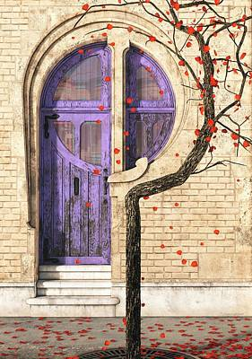 Red Door Digital Art - Nouveau by Cynthia Decker