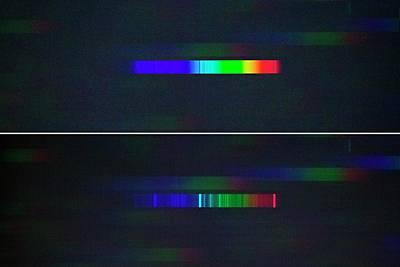 Stellar Photograph - Nova Delphini Spectrum by Dr Juerg Alean