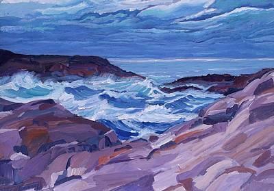 Nova Scotia Coast Art Print by Janet Ashworth