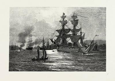 Nova Scotia, Men-of-war, Halifax Harbour Art Print by Canadian School