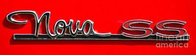 Photograph - Nova Ss Badging by Mark Spearman