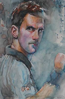Djokovic Painting - Novak Djokovic - Portrait 1 by Baresh Kebar