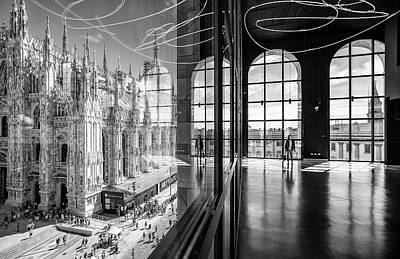 Church Architecture Photograph - Novecento's Reflections by Marco Tagliarino