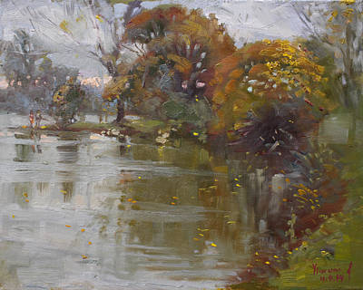 London Painting - November 4th At Hyde Park by Ylli Haruni