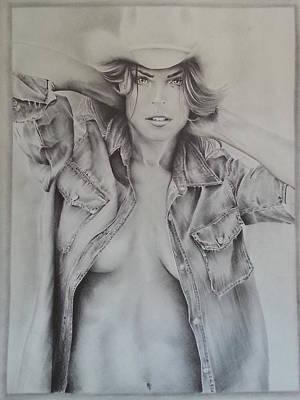 Denim Drawing - November by Charlie Reno