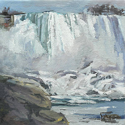 Painting - November Falls At Niagara by J R Baldini IPAP