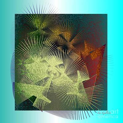 Art Print featuring the digital art November by Iris Gelbart