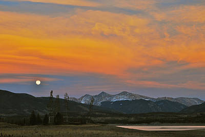 November Moonrise Print by Bob Berwyn