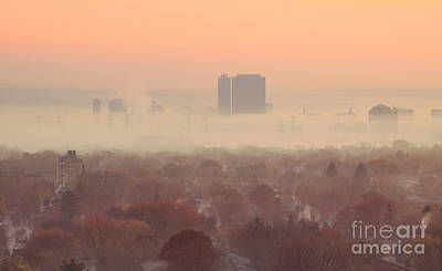 November Morning Fog Art Print by Charline Xia