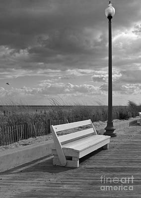 November On The Boardwalk Art Print by Arlene Carmel