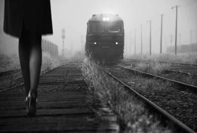 Railroads Photograph - November Passengers by Nicoleta Gabor