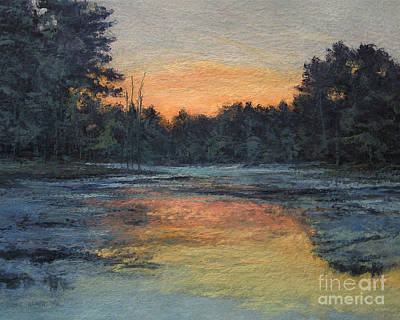 Sunset Painting - November Reflection by Gregory Arnett