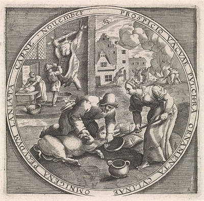 November Slaughter Time, Anonymous, Crispijn Van De Passe Art Print