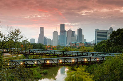Tolerance Photograph - November Sunrise In Downtown Houston by Silvio Ligutti