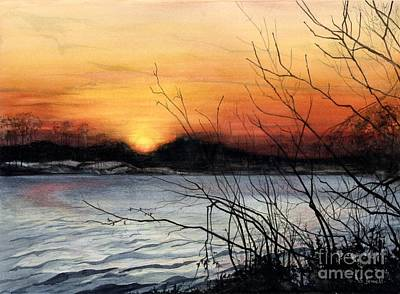 Painting - November Sunset by Barbara Jewell