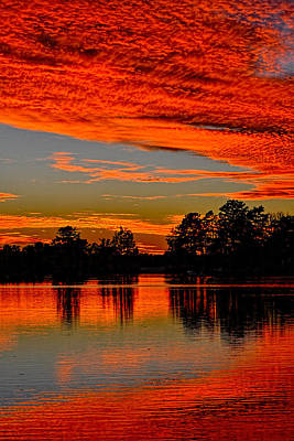 Photograph - November Sunset by Beth Sawickie