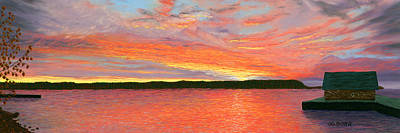 Pastel - November Sunset by George Burr
