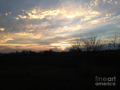 Photograph - November Sunset In West Michigan by Conni Schaftenaar