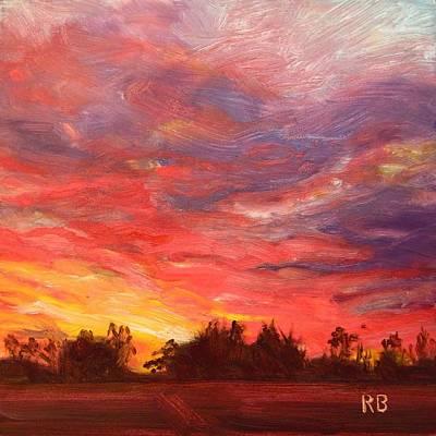 Painting - November Sunset  by Robie Benve