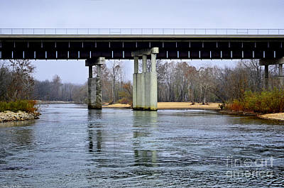 Photograph - November Under The Brige - Current River Near Van Beauren Mo by Debbie Portwood