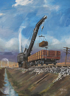 Trains Painting - November's Work by Christopher Jenkins