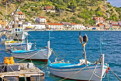 Photograph - Novigrad Dalmatinski Boats On The Coast by Brch Photography