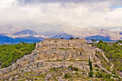 Photograph - Novigrad Dalmatinski Fortress And Velebit Mountain by Brch Photography