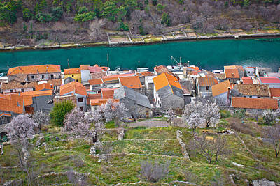 Photograph - Novigrad Dalmatinski House Rooftops And Channel by Brch Photography