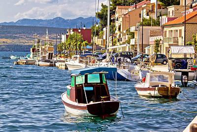 Photograph - Novigrad Dalmatinski Waterfront Summer View by Brch Photography