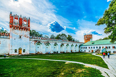 Medieval Temple Photograph - Novodevichy Convent Walls And Towers by Alexander Senin