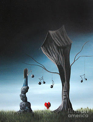 Fantasy Art Painting - Now And Forever In Love With You By Shawna Erback by Shawna Erback
