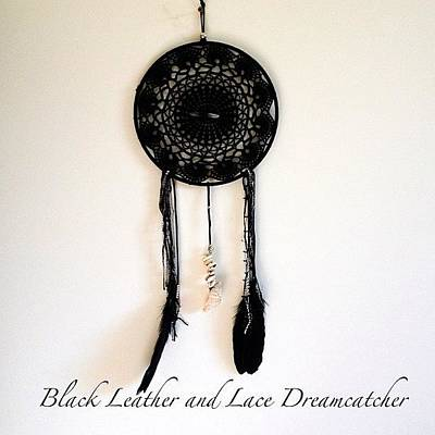 Leather Photograph - Now Available 'black Leather And Lace by Shikoba Photography