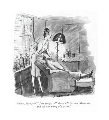 Now, Dear, We'll Just Forget All About Hitler Art Print