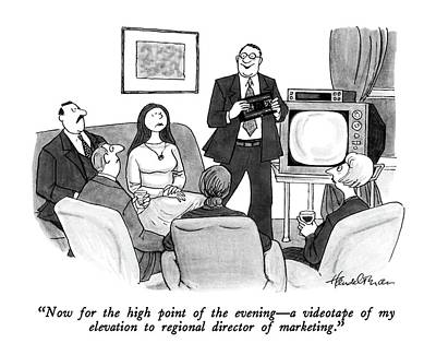 Promotion Drawing - Now For The High Point Of The Evening - by J.B. Handelsman
