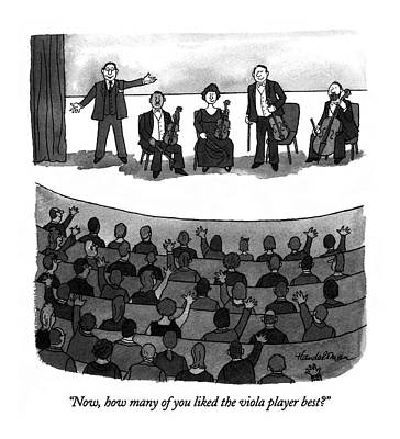 Audience Drawing - Now, How Many Of You Liked The Viola Player Best? by J.B. Handelsman