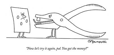 Now Let's Try Print by Charles Barsotti