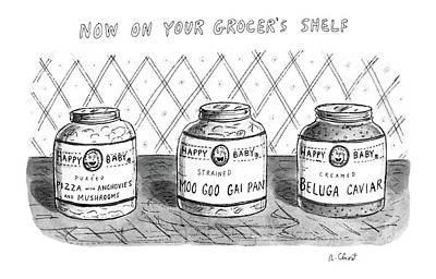 Beluga Drawing - Now On Your Grocer's Shelf by Roz Chast