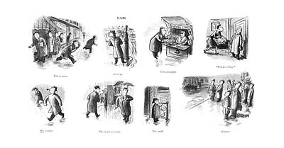 Montage Drawing - Now Or Never  Stood Up  His Weather  The Lady's by William Steig