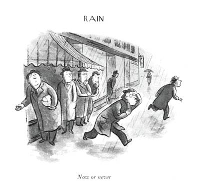 Rain Drawing - Now Or by William Steig