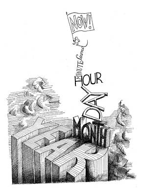History Drawing - Now! Second by Saul Steinberg