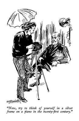 Professional Drawing - Now, Try To Think Of Yourself In A Silver Frame by William Hamilton