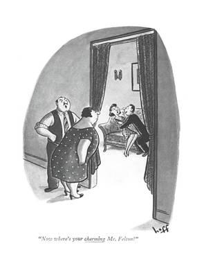 Now Where's Your Charming Mr. Felton? Art Print by Sydney Hoff