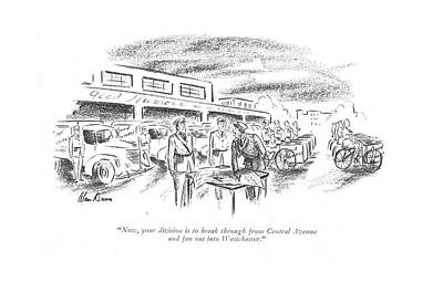 Bicycle Drawing - Now, Your Division Is To Break by Alan Dunn